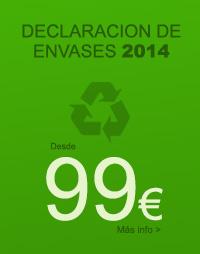 Declaración de Envases Anual 2014: Abierto el plazo de presentación.
