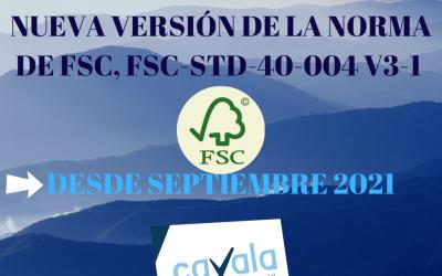Nueva versión de la norma de FSC, FSC-STD-40-004 V3-1 desde septiembre 2021